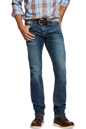 Ariat Men's M8 Modern Stretch Holden Straight Jeans in Silvercreek Cotton