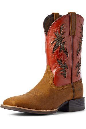 Ariat Men's Sport Cool VentTEK Western Boots in Brushed Leather