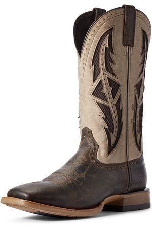 Ariat Men Cowboy Boots - Men's Cowhand VentTEK Western Boots in Stout Leather