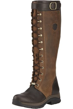 Ariat Women High Leg Boots - Women's Berwick Gore-Tex Insulated Boots in Ebony Leather