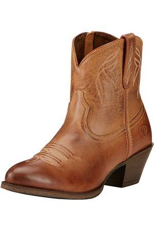 Ariat Women Cowboy Boots - Women's Darlin Western Boots in Burnt Sugar Leather