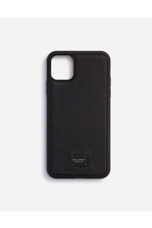 Dolce & Gabbana Men Phones - Technology - DAUPHINE CALFSKIN IPHONE 11 PRO MAX COVER WITH BRANDED PLATE male OneSize