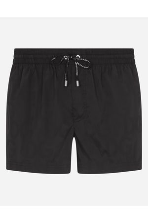 Dolce & Gabbana Men Swim Shorts - Beachwear - SHORT SWIM TRUNKS IN HYDRO-SENSITIVE FABRIC WITH LOGO PRINT male 3