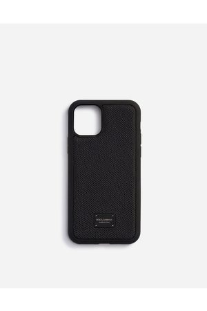 Dolce & Gabbana Technology - DAUPHINE CALFSKIN IPHONE 11 PRO COVER WITH BRANDED PLATE male OneSize