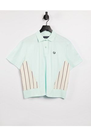 Fred Perry Woven panel polo shirt in brighton