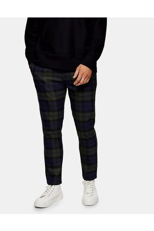 Topman Blackwatch check joggers in