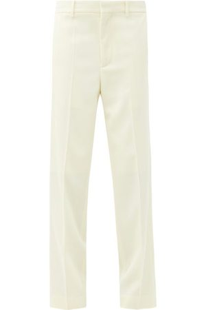 Raey Straight-leg Wool-twill Tailored Trousers - Womens - Ivory