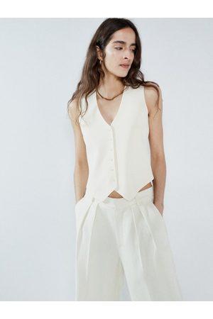 Raey Single-breasted Wool-twill Waistcoat - Womens - Ivory