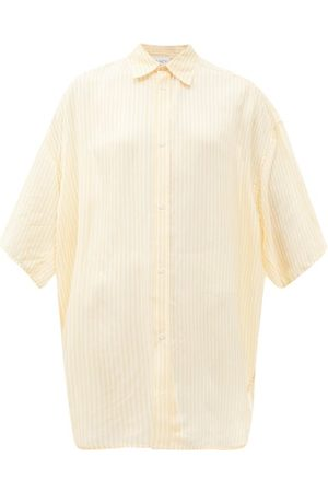 Raey Wide-sleeve Striped Silk Shirt - Womens - Multi