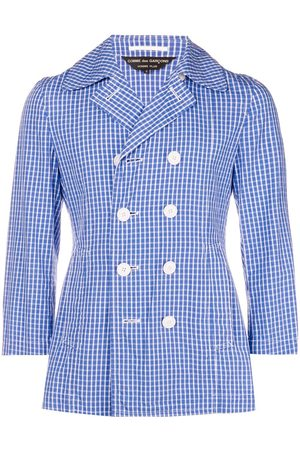 Comme des Garçons Checked double-breasted jacket