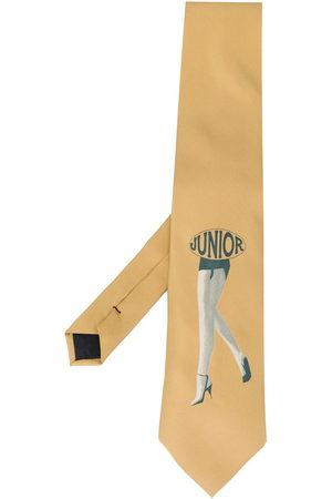 Jean Paul Gaultier Boys Bow Ties - 1980s junior print tie - Neutrals