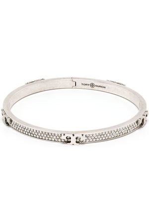 Tory Burch Women Bracelets - Serif-T hinged bracelet