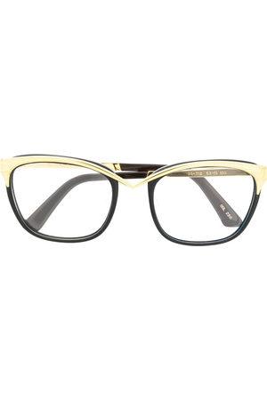 Thierry Mugler 1980s cat-eye frame glasses