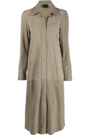 Simonetta Olly suede-shirt dress