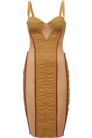 Burberry Quilted technical corset dress - Neutrals
