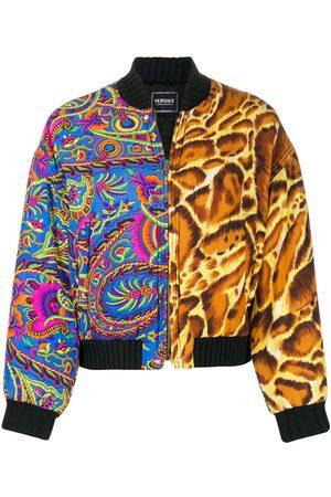 VERSACE Women Bomber Jackets - 1990s mixed-print padded bomber jacket