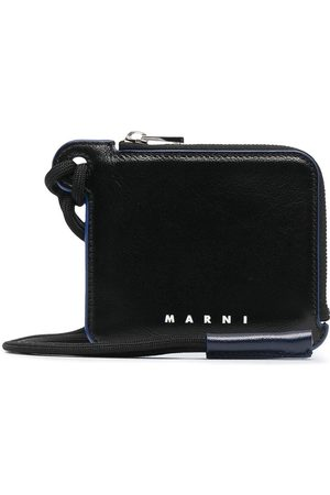 Marni Leather neck strap wallet