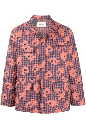 HENRIK VIBSKOV Floral-print button-up denim jacket