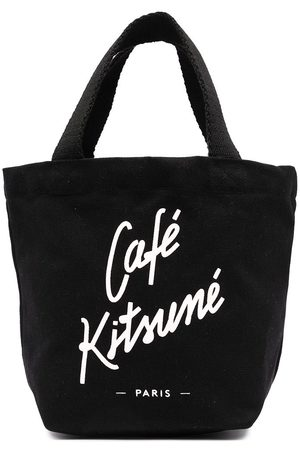 Maison Kitsuné Logo print tote bag
