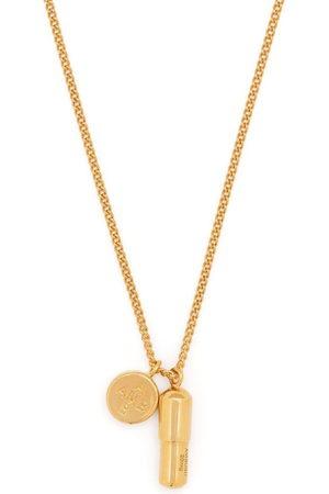 AMBUSH Pill-charm silver necklace