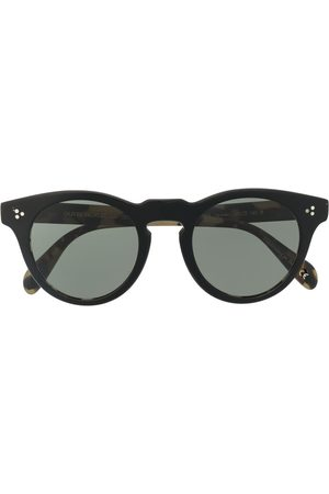 Oliver Peoples Round-frame tortoise-shell sunglasses
