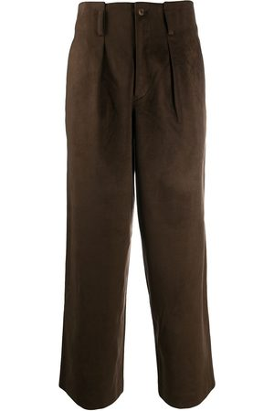 Issey Miyake 1980s faux suede trousers