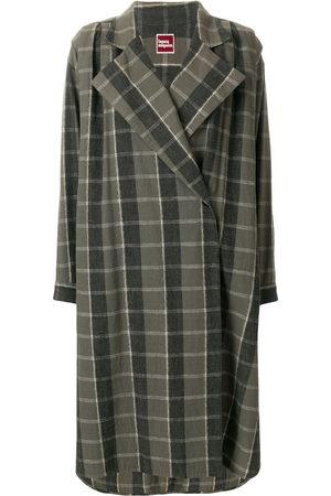 Issey Miyake Women Coats - 1970s oversize check coat