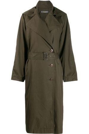 Issey Miyake Women Trench Coats - 1980s oversized trench coat