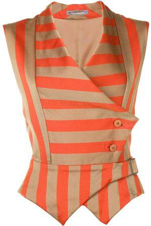 Issey Miyake Pre-Owned Women Waistcoats - 1980s striped waistcoat