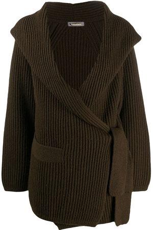 Issey Miyake 1980s shawl collar ribbed cardigan