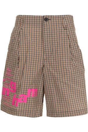 Kolor Plaid-check pattern shorts