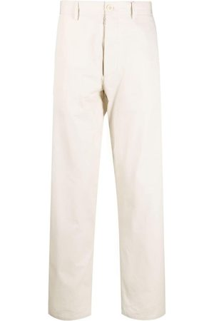 Maison Margiela Straight-leg cotton chinos - Neutrals