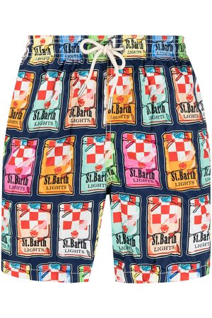 MC2 SAINT BARTH Sticker-print swim shorts