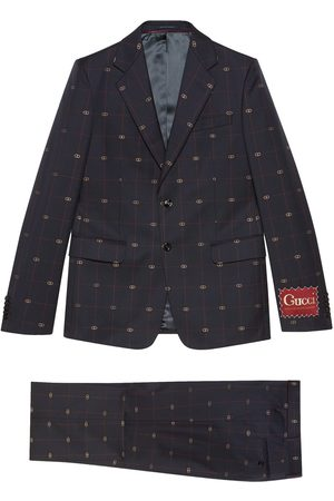 Gucci GG embroidered single-breasted suit