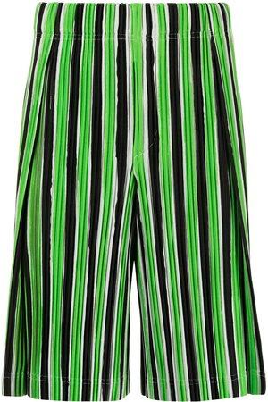 HOMME PLISSÉ ISSEY MIYAKE Striped plissé track shorts