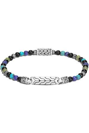 John Hardy Men Bracelets - Classic Chain beads ID bracelet