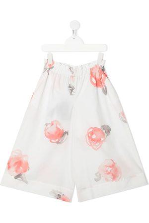 Emporio Armani Floral-print elasticated-waist trousers