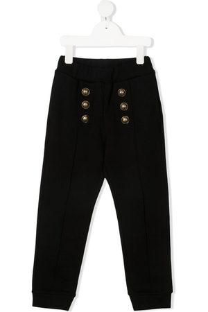 Balmain Girls Trousers - Buttoned track pants