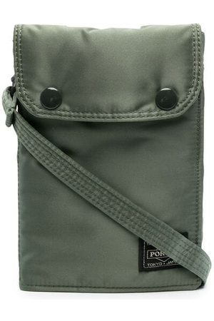 PORTER-YOSHIDA & CO Logo-patch metallic messenger bag