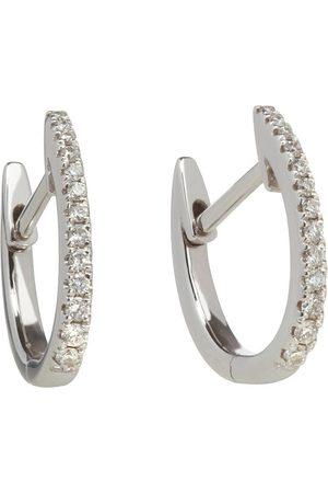 ANNOUSHKA 18kt white Eclipse diamond hoop earrings