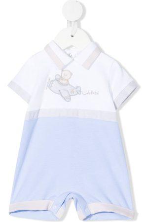 Le Bebé Enfant Two-tone short-sleeved romper