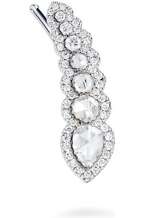 David Morris Rose Cut diamond ear climber