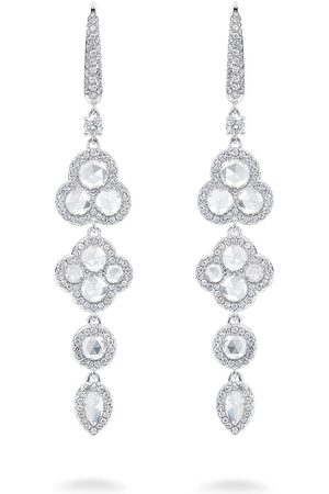 David Morris Rose Cut diamond drop earrings