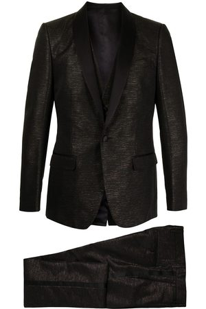 Dolce & Gabbana Laminated-effect three-piece tuxedo