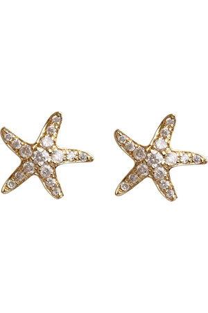 ANNOUSHKA 18kt yellow Starfish diamond stud earrings