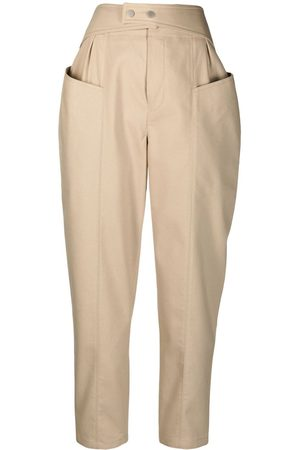 12 STOREEZ High-rise trousers - Neutrals