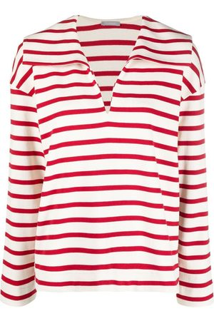12 STOREEZ Striped collared top