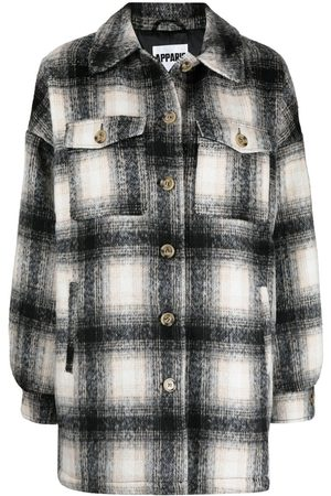 Apparis Debra check-pattern shirt jacket