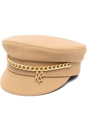 Ruslan Baginskiy Chain-detail baker boy hat - KAKI