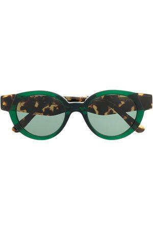 KYME Round tortoise-effect sunglasses